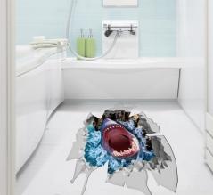 "3D наклейка ""Пасть акулы"""