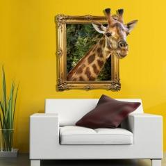 """3D наклейка """"Любопытный жираф"""""""