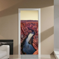 "3D наклейка ""Река в каньоне"""