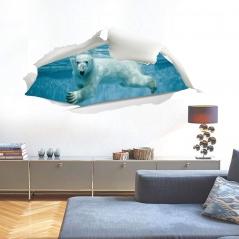 """3D наклейка """"Белый медведь"""""""