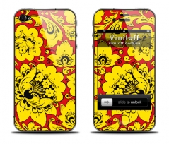 "Наклейка на iPhone ""Hohloma Yellow"""