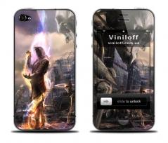 """Наклейка на iPhone """"Воин света"""""""