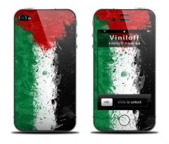 """Наклейка на iPhone """"Флаг Иордании"""""""