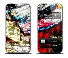 """Наклейка на iPhone """"Цветовой хаос"""""""