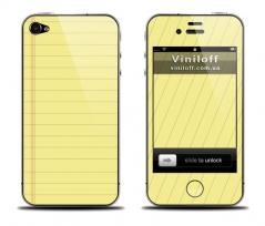 """Наклейка на iPhone """"Тетрадка"""""""