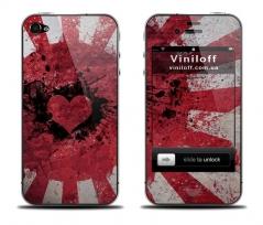 """Наклейка на iPhone """"Жестокая любовь"""""""