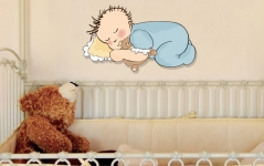 """Наклейка """"Спящий малыш"""""""