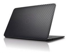 Карбоновая наклейка на ноутбук 10.1-13.3 дюйма (Черная)