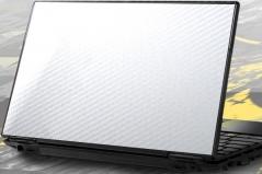 Карбоновая наклейка на ноутбук 14-17.3 дюйма (Белая)