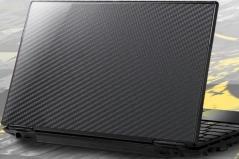 Карбоновая наклейка на ноутбук 14-17.3 дюйма (Черная)