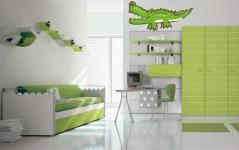 """Наклейка """"Зеленый крокодил"""""""