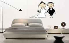 """Наклейка """"Жених и невеста"""""""
