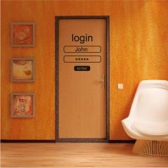 """Наклейка на дверь """"012"""""""