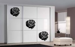 """Наклейка на шкаф """"Просто роза"""""""