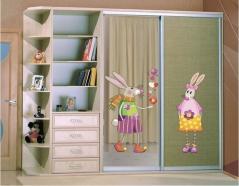 """Наклейка на шкаф """"Влюбленный заяц"""""""