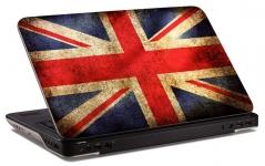 "Наклейка на ноутбук ""Английский флаг"" (249х168 мм)"