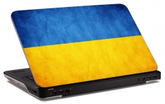 """Наклейка на ноутбук """"Флаг Украины"""" (250х169 мм)"""