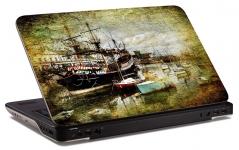 """Наклейка на ноутбук """"Старый корабль"""" (250х170 мм)"""
