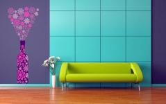 """Наклейка на стену """"Цветущее шампанское"""""""