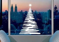 """Наклейка """"Новогодняя елка - 10"""""""