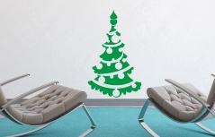 """Наклейка """"Новогодняя елка - 5"""""""