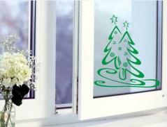 """Наклейка """"Новогодняя елка - 6"""""""