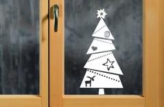 """Наклейка """"Новогодняя елка - 2"""""""