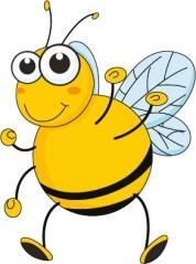 """Наклейка на стену """"Дружелюбная пчелка"""""""