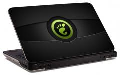 """Наклейка на ноутбук """"Зеленый след"""" (254х175 мм)"""