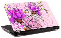 """Наклейка на ноутбук """"Розовые цветы"""" (303х207мм)"""