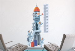 """Наклейка ростомер """"Космонавты"""""""