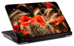 """Наклейка на ноутбук """"Яркие маки"""" (253х173 мм)"""