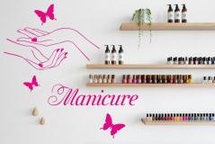 """Наклейка на стену """"Manicure"""""""