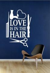 """Наклейка """"Любовь в волосах"""""""