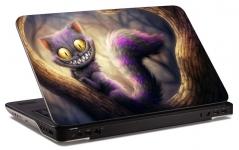 """Наклейка на ноутбук """"Чеширский кот"""" (260х179 мм)"""