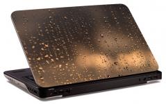 """Наклейка на ноутбук """"Капли на стекле"""" (325х218 мм)"""